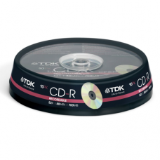 TDK CD-R Audio 80 min Cake ( 10 τεμ )