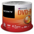 SONY DVD-R 4.7 gb Cake ( 50 τεμ )