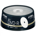 TDK DVD-R 4.7 gb Printable Cake ( 25 τεμ )