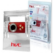 HV-W001 HVT Web Camera USB  με μικρόφωνο 12MP software Red